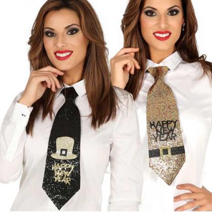 Cravatta Happy New Year glitterata