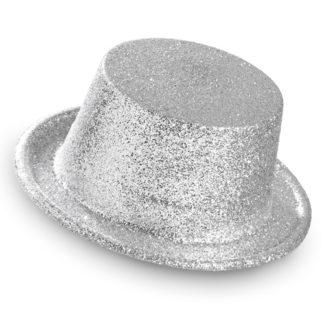 Cilindro Glitter argento