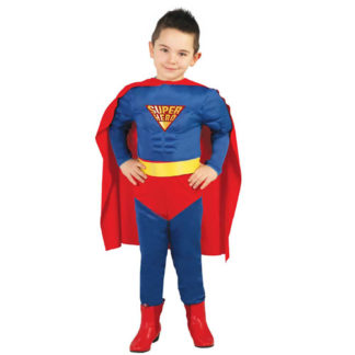 Costume stile Superman Bimbo 5/6 anni
