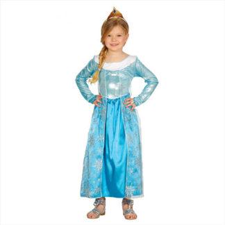 Costume Principessa stile Frozen 7/9 anni