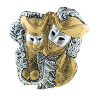 Maschera da decoro maxi Coppia Veneziana
