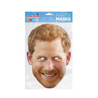 Maschera British Principe Harry in cartoncino