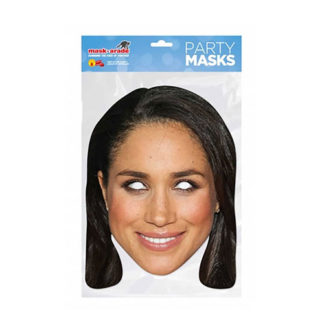 Maschera British Meghan Markle in cartoncino