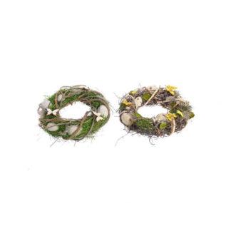 Corona pasquale con uova e farfalle cm 25