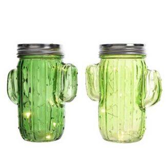 Centrotavola Cactus in vetro con Led