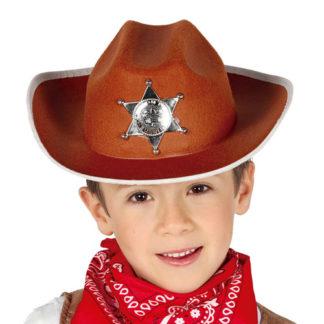 Cappello sceriffo in feltro bimbo