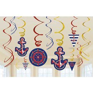Decoro spirali Marina cm 60 set 12 pezzi