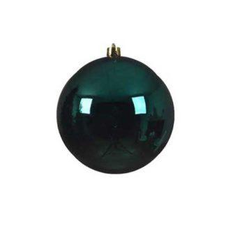 Palla di Natale mm 140 Verde Smeraldo