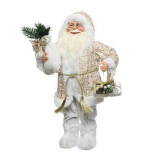 Babbo Natale gold con doni cm 45