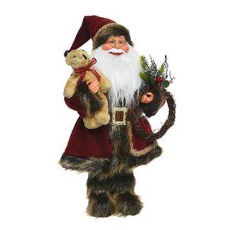 Babbo Natale con pelliccia cm 45