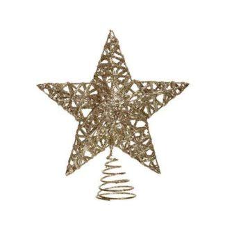 Puntale stella glitter Champagne cm 20