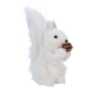 Scoiattolo bianco con ghianda cm. 26Scoiattolo bianco con ghianda cm. 26Scoiattolo bianco con ghianda cm. 26