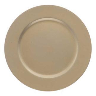 Piatto Glitterato oro cm. 33