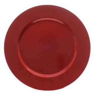 Piatto Glitterato rosso cm. 33