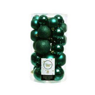 Box 30 Palline di Natale Verde smeraldo