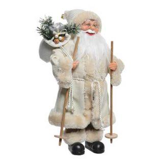 Babbo Natale Avorio con sacco cm 60