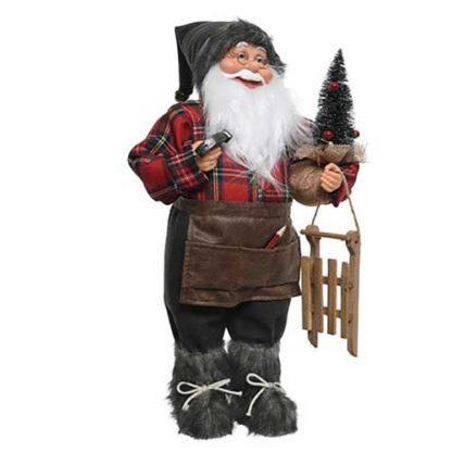 Babbo Natale Carpentiere cm 60