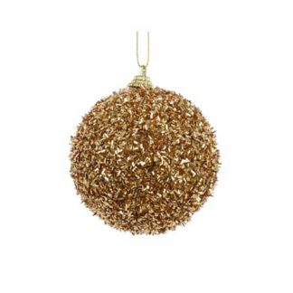 Pallina Natalizia decorata lurex oro mm 80