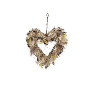 Ghirlanda Pasquale cuore naturale cm. 30