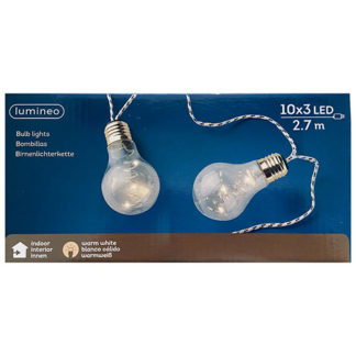 Filare 10 lampadine a led mt 2,70
