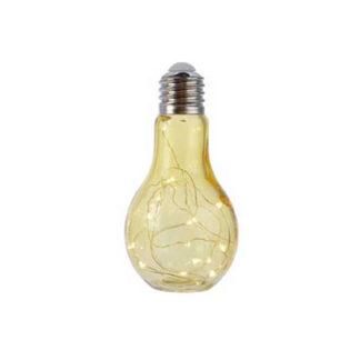 Lampadina Oro MAXI con luci led cm 18,5