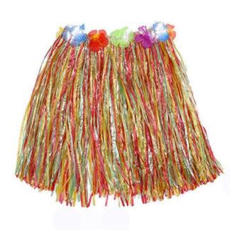 Gonna Hawaiana multicolor con fiori cm 55