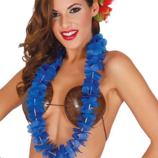 Collana Hawaiana fiori blu