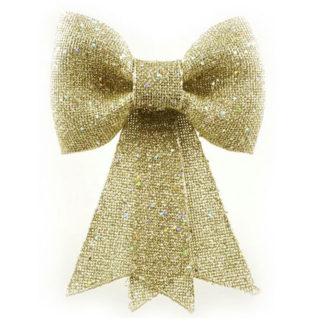 Fiocco juta oro con glitter cm 30
