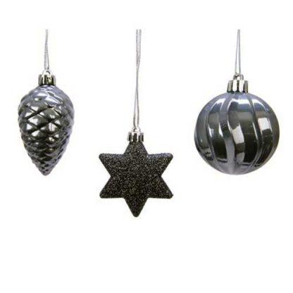 Addobbi Per Albero di Natale colore Stone Grey Set 3 Pezzi