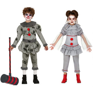 Costume Coppia Clown IT Horror Bimbi