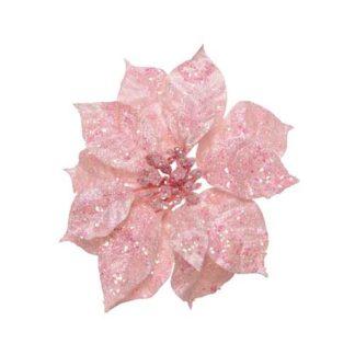 Stella di natale blush pink con clip cm. 16