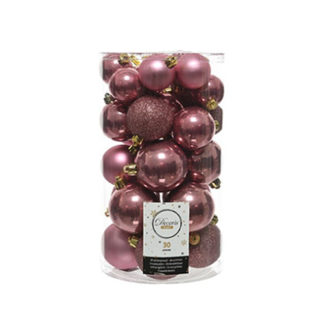Box 30 Palline di Natale Velvet Pink