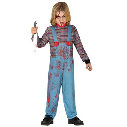 Costume Stile Chucky Bambolotto Assassino