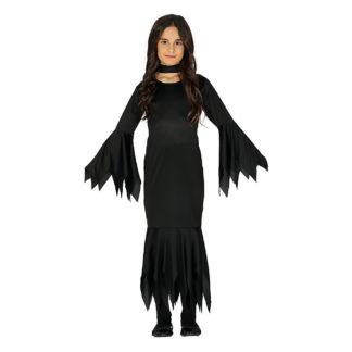 Costume stile Morticia Addams 10 - 12 anni
