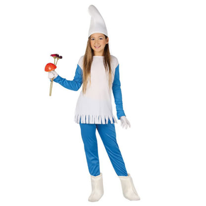 Costume stile Puffetta bimba 7 - 9 anni
