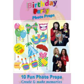 Bastoncini foto booth Compleanno 10 pezzi
