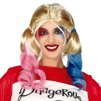 Parrucca stile Harley Quinn
