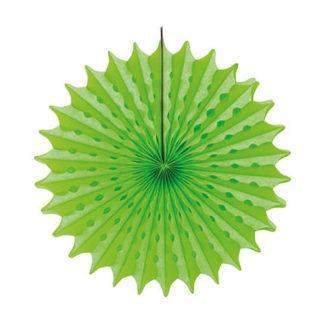 Rosone in carta verde neon cm 45