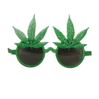 Occhiali glitterati foglie Marijuana