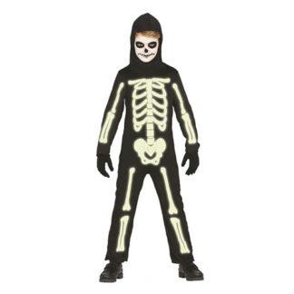 Costume scheletro Fosforescente bimbo