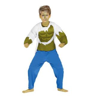 Costume bimbo Stile Hulk 7 - 9 anni