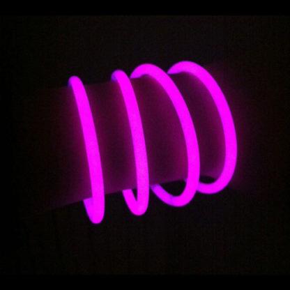 Braccialetti luminosi rosa conf. 50 pezzi