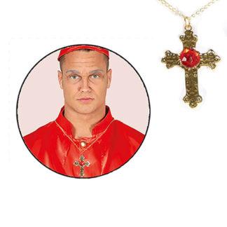 Croce oro con Gemma cm. 8