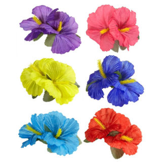 Fermacapelli Hawaii con fiori Ibisco