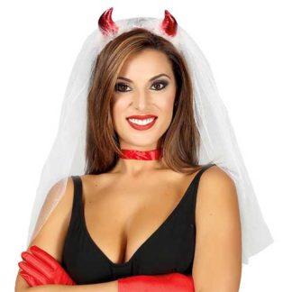 Cerchietto velo sposa diavoletta