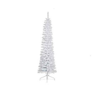 Albero di Natale Pino slim Bianco Innevato cm 180