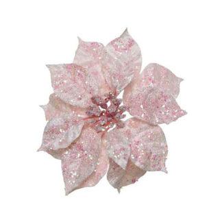 Stella di natale bluh pink con clip cm. 16