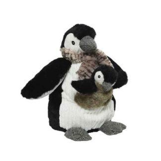 Pinguino con sciarpa e Cucciolo cm. 33
