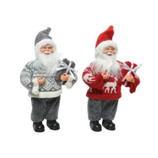 Babbo Natale con pacco regalo cm. 30
