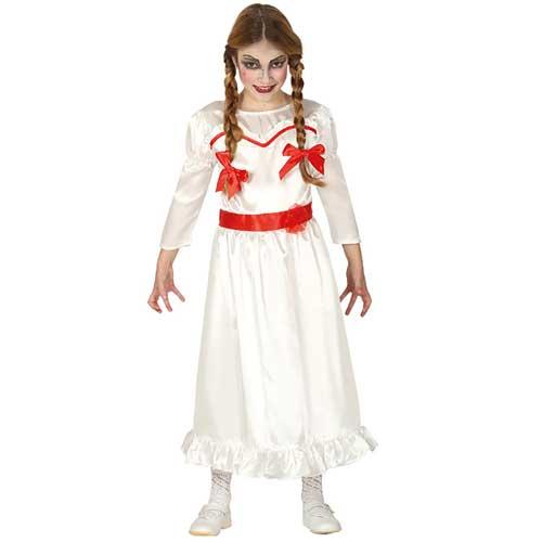 piuttosto bella qualità autentica comprare bene Costume stile Annabelle la bambola assassina bimba 7 - 9 anni